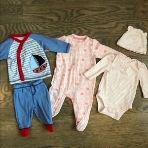 Set of 3 baby sleepers